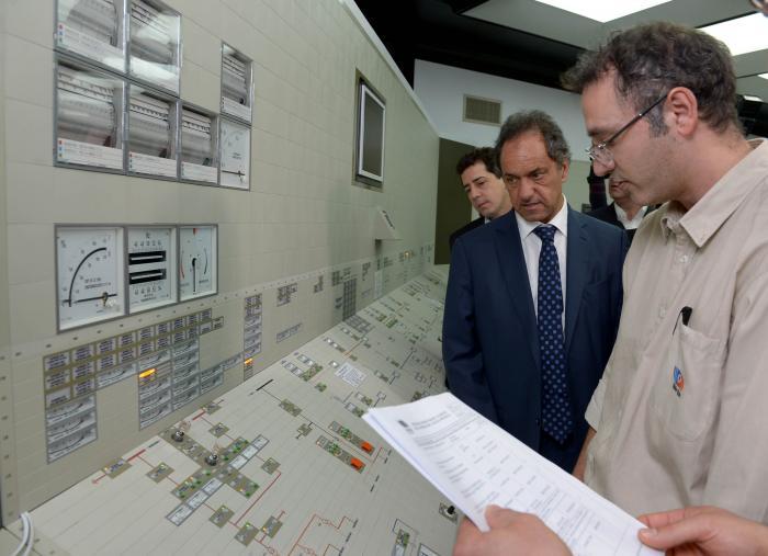 Scioli inauguró simulador en la central nuclear de Zárate