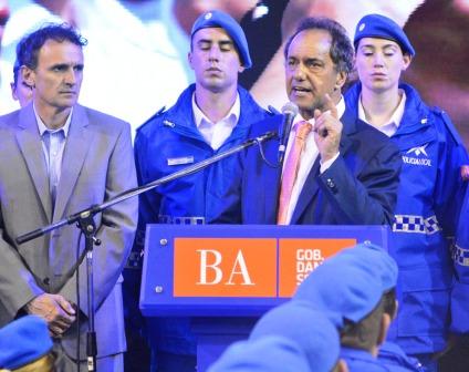 Katopodis y Scioli participaron del egreso de 235 nuevos policías para San Martín
