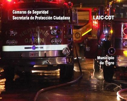 Video: Actuación del sistema de Emergencia ente el incendio de un aserradero en Tigre