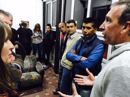 """Szpolski recorrió la """"Academia de Cine Leonardo Favio"""" en el barrio Baires"""