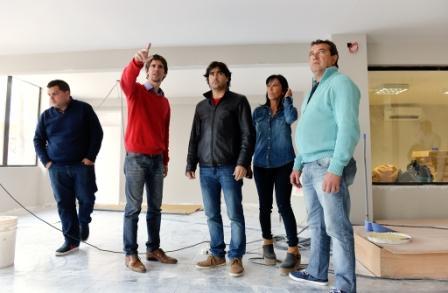 El nuevo Centro de Monitoreo de San Fernando en su última etapa de construcción