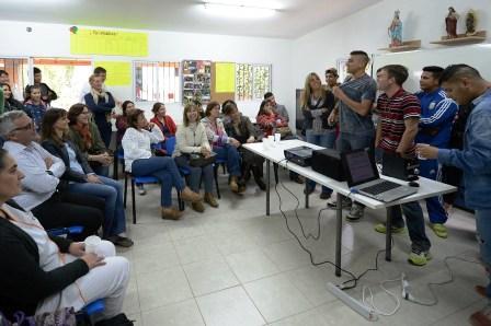 Zamora y Malena acompañaron a jóvenes de un Centro contra las adicciones en Ricardo Rojas