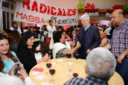 Luis Andreotti recibió el apoyo de la UCR de San Fernando