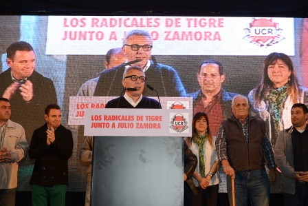 La UCR de Tigre brindó su apoyo a Julio Zamora