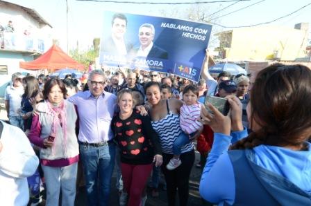 Masivo apoyo a Julio Zamora en Don Torcuato
