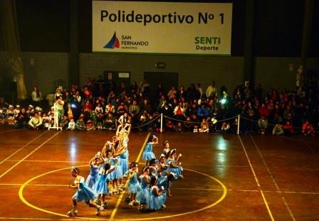 Gala de Patín en el Polideportivo N°1 de San Fernando