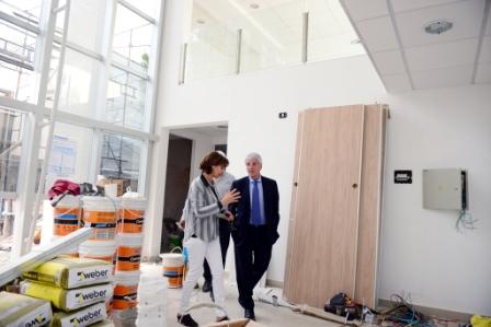 Andreotti recorrió la obra del Nuevo Hospital Oftalmológico, pronto a inaugurarse