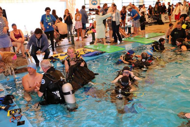 Se realizó en San Isidro la II jornada de buceo para personas con discapacidad