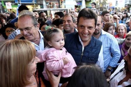 """Sergio Massa en San Martín: """"Proponemos la dignidad del trabajo para  terminar con la cultura de los planes sociales"""""""