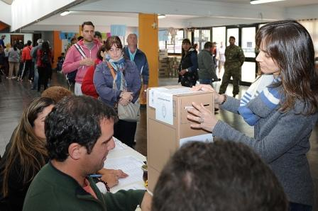 Malena Galmarini votó en Tigre Centro