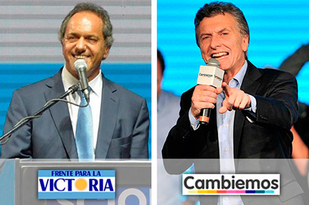 Scioli perdió votos y supera por un margen escaso a Macri.