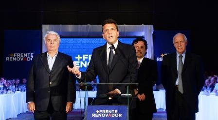 Sergio Massa, encabezó hoy un plenario de 260 dirigentes del frente Unidos por una Nueva Alternativa (UNA)