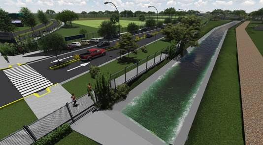 Nuevo reservorio en el bajo de San Isidro para evitar inundaciones