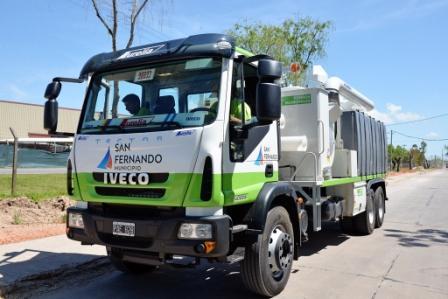 El Municipio de San Fernando incorporó un nuevo camión desobstructor