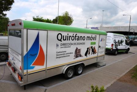 El Quirófano Móvil de Zoonosis realizó un nuevo operativo en Avellaneda y Acceso Norte