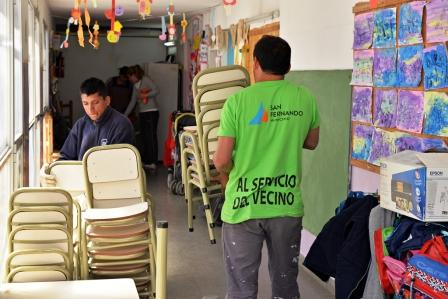 El Municipio de San Fernando entregó nuevo mobiliario al Jardín N° 931