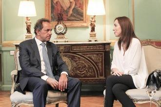 """Scioli: """"Me gustaría conocer la opinión de Vidal respecto del espionaje ilegal"""""""