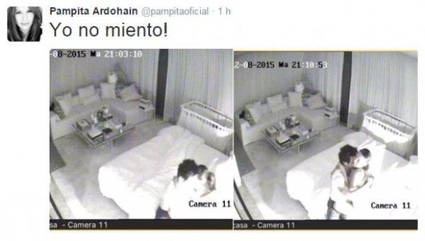 Pampita difundió fotos para confirmar que estaba reconciliada Con benjamín vicuña cuando lo sorprendió con la China Suárez