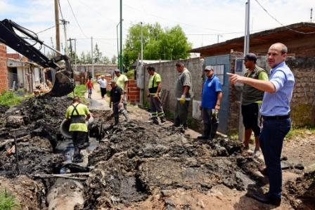Última etapa de urbanización y trabajos hidráulicos en el barrio San Jorge de San Fernando