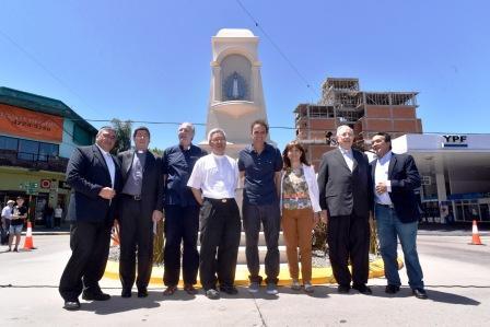 San Martín re-entronizó la Virgen en la ermita de Ayacucho y Perón