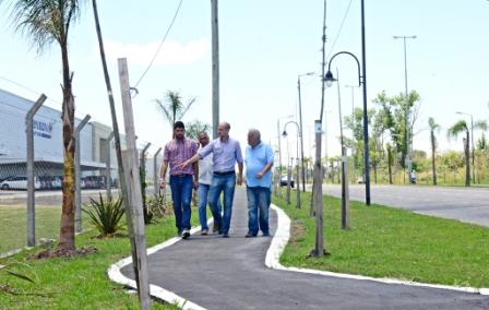 San Fernando construye un paseo aeróbico en la ex Ruta 202