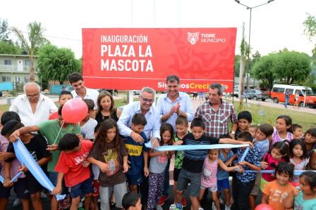"""Tigre inauguró la plaza """"La Mascota"""" en Benavidez"""