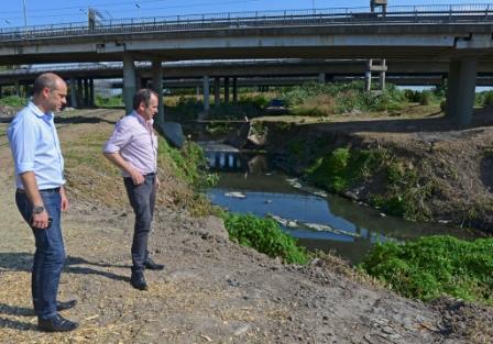 El Presidente del HCD de San Fernando visitó la estación de bombeo del aliviador del arroyo Pavón, recientemente inaugurado.