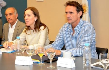 Katopodis recibió a Vidal junto a su gabinete en San Martín