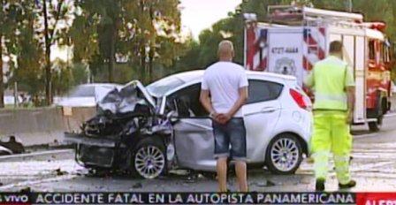 Un muerto y dos heridos tras un choque en Panamericana provocado por joven que manejaba a contramano
