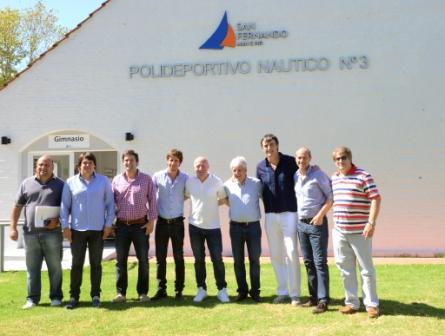 Luis Andreotti y Esteban Bullrich recorrieron complejos deportivos de San Fernando