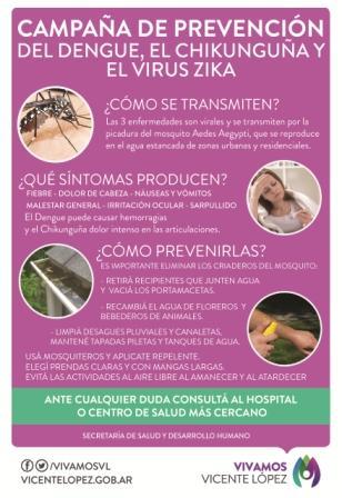 Vicente López brinda recomendaciones para prevenir el Dengue.