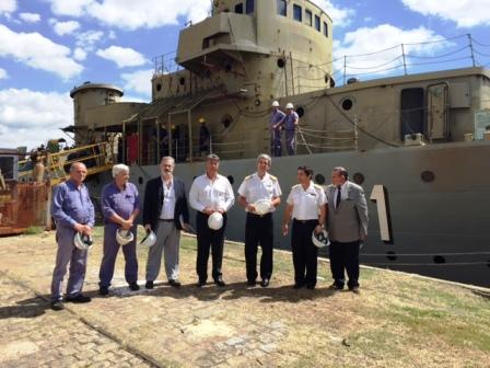Producción y Astillero Río Santiago avanzan en proyectos con la Armada Argentina