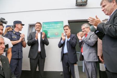 El diputado nacional Sergio Massa,  participó hoy del acto inaugural del Sistema telefónico de Atención de Emergencias 911 Multiagencia  en Chivilcoy,