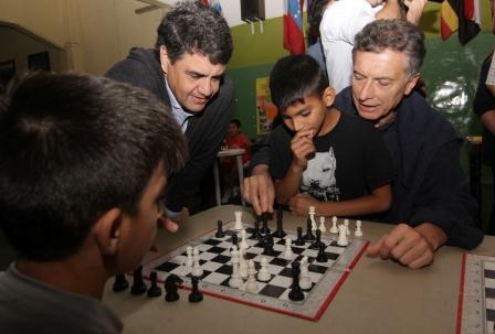 Jorge Macri visitó un Centro Comunitariode Vicente López unto al presidente Mauricio Macri y la gobernadora de la Provincia, María Eugenia Vidal