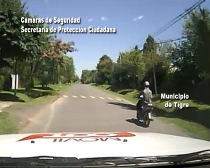 Tras una persecución recuperan una moto robada en Tigre