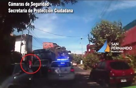 """San Fernando: Patrullas municipales frustran robo por """"entradera"""", detienen a hombre y recuperan botín"""