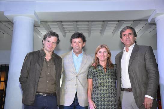 Posse y Jaureguiberry, junto a los periodistas Gargarella Y Roberts