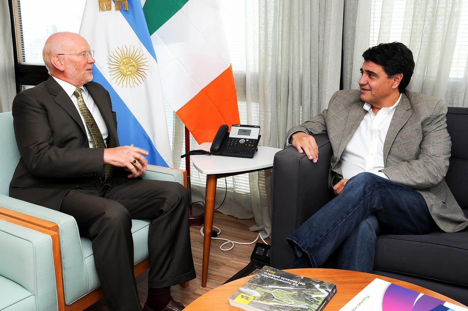 Jorge Macri se reunió con el embajador de Irlanda