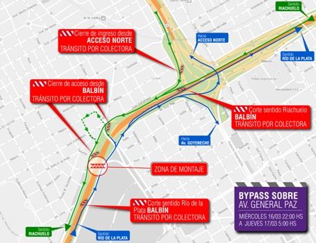 Autopistas del Sol realizarán obras en la Av. General Paz por segundo día consecutivo