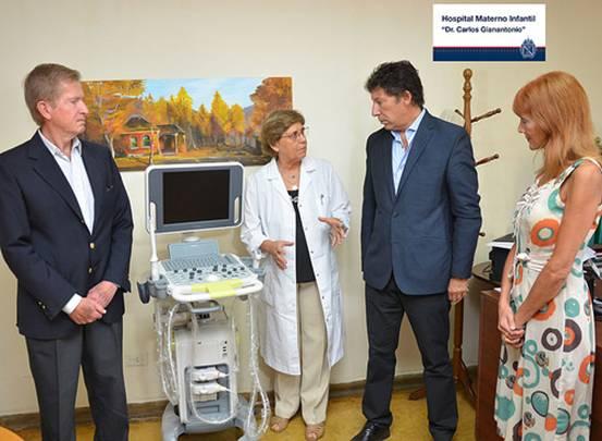 El hospital Materno Infantil de San Isidro sumó un ecógrafo de última generación