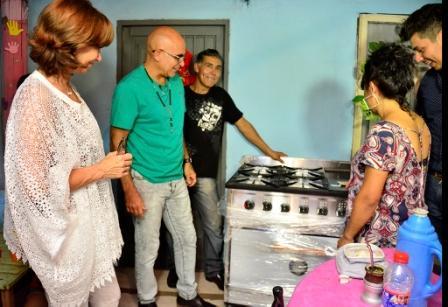 El Municipio de San Fernando donó cocina y mobiliario al merendero Huellitas de Guadalupe