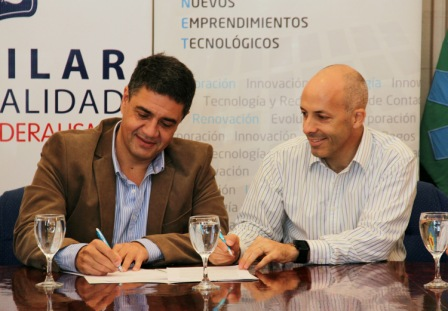 El intendente de Vicente López y presidente del Grupo Provincia, Jorge Macri, firmó un convenio con su par del municipio de Pilar, Nicolás Ducoté, para llevar adelante la ampliación de bocas de pago de Provincia Net en dicha localidad.