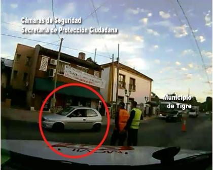 Tras una persecución detienen a un conductor ebrio en Tigre