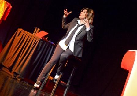 Carolina Papaleo volvió a presentarse en San Fernando