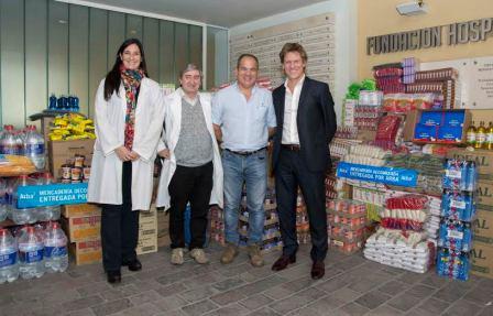 ARBA entregó mercadería decomisada a la fundación del Hospital de Niños de La Plata