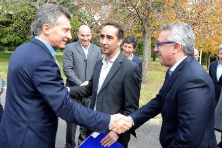 Julio Zamora y Mauricio Macri