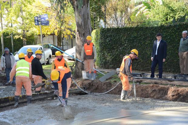 Posse recorrió las obras de la calle Avellaneda en Las Lomas de San Isidro