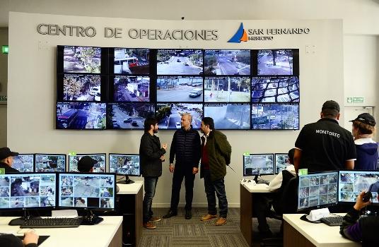 San Fernando compartió experiencias en políticas de seguridad con San Martín