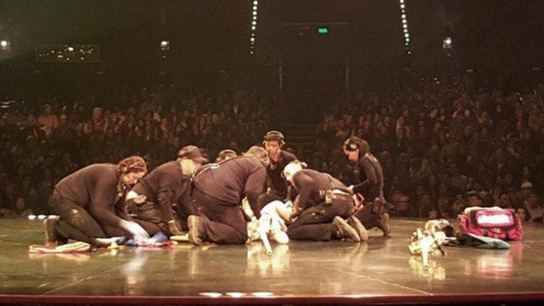 Cirque du Soleil:  está fuera de peligro el acróbata que se accidento en plena función