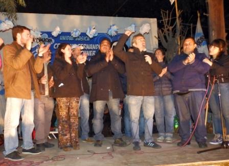 Larroque en Tigre en apoyo a militantes amenazados